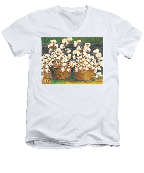 Cotton Basket Men's V-Neck T-Shirt
