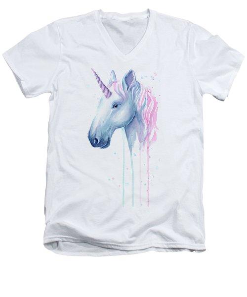 Cotton Candy Unicorn Men's V-Neck T-Shirt