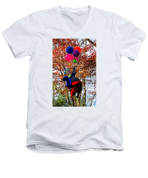 Coulrophobia Men's V-Neck T-Shirt by Paul Mashburn
