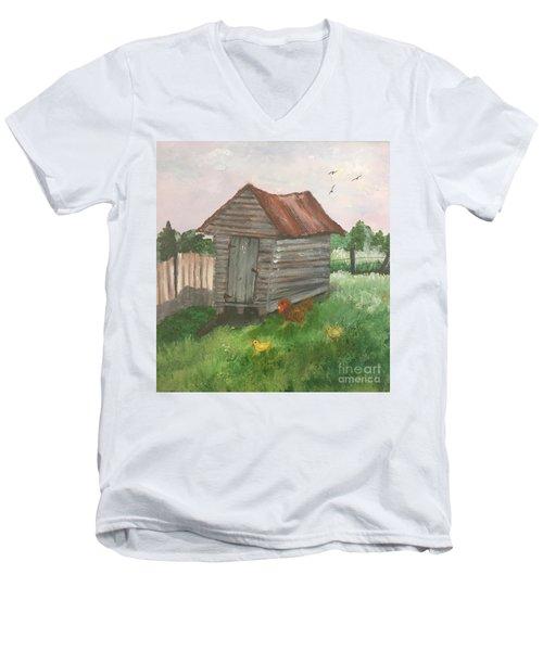 Country Corncrib Men's V-Neck T-Shirt