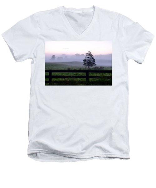 Country Morning Fog Men's V-Neck T-Shirt