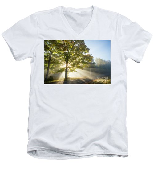 Country Road Men's V-Neck T-Shirt by Alana Ranney