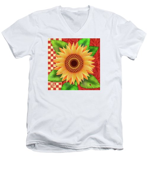 Country Sunflower Men's V-Neck T-Shirt
