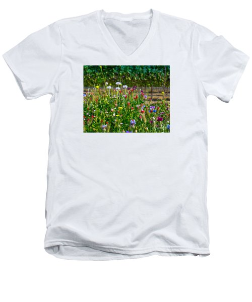 Country Wildflowers II Men's V-Neck T-Shirt
