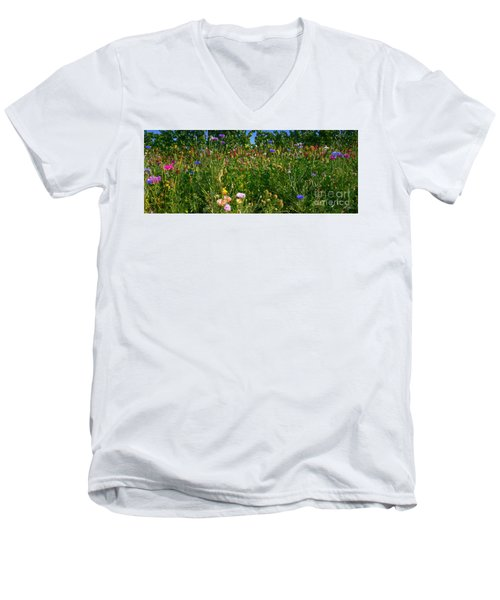 Country Wildflowers IIi Men's V-Neck T-Shirt