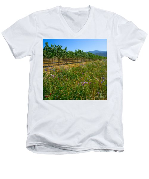 Country Wildflowers V Men's V-Neck T-Shirt