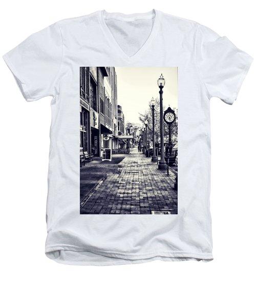 Court Street Clock Florence Alabama Men's V-Neck T-Shirt