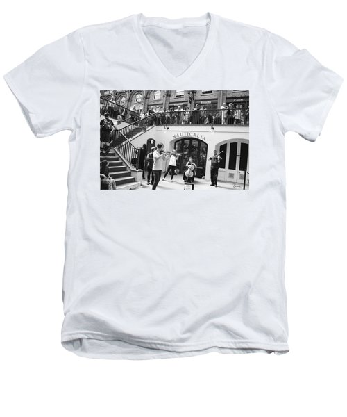 Covent Garden Music Men's V-Neck T-Shirt