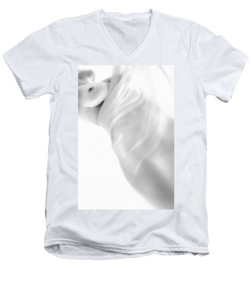 Men's V-Neck T-Shirt featuring the photograph Covering The Body by Evgeniy Lankin