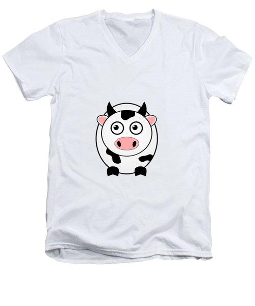Cow - Animals - Art For Kids Men's V-Neck T-Shirt