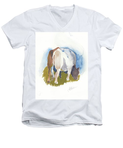 Cow I Men's V-Neck T-Shirt