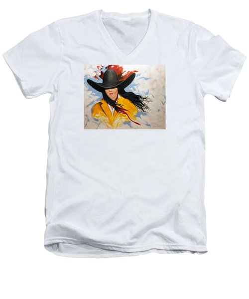 Cowgirl Colors #3 Men's V-Neck T-Shirt