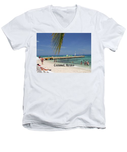 Men's V-Neck T-Shirt featuring the photograph Cozumel Mexico by Gary Wonning