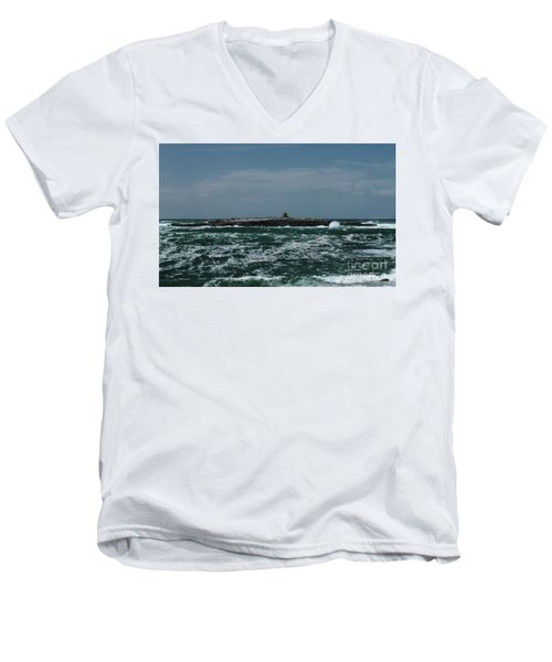 Crab Island Men's V-Neck T-Shirt