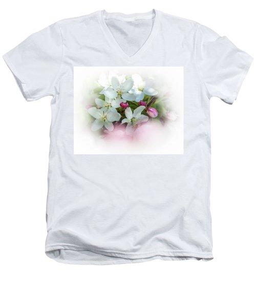 Crabapple Blossoms 3 - Men's V-Neck T-Shirt