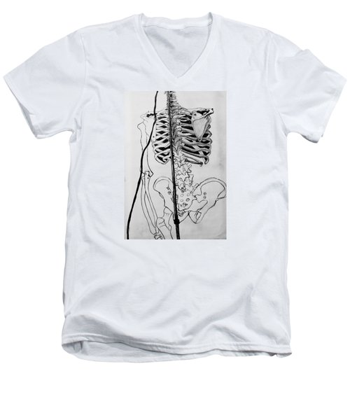 Crackling Bones Men's V-Neck T-Shirt