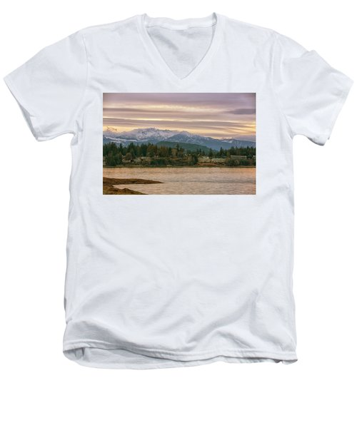 Men's V-Neck T-Shirt featuring the photograph Craig Bay by Randy Hall
