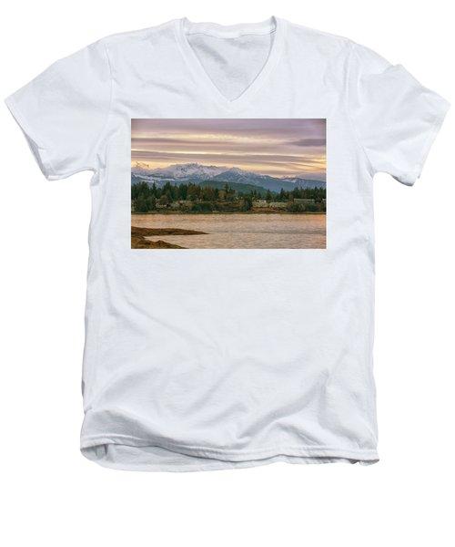 Craig Bay Men's V-Neck T-Shirt by Randy Hall