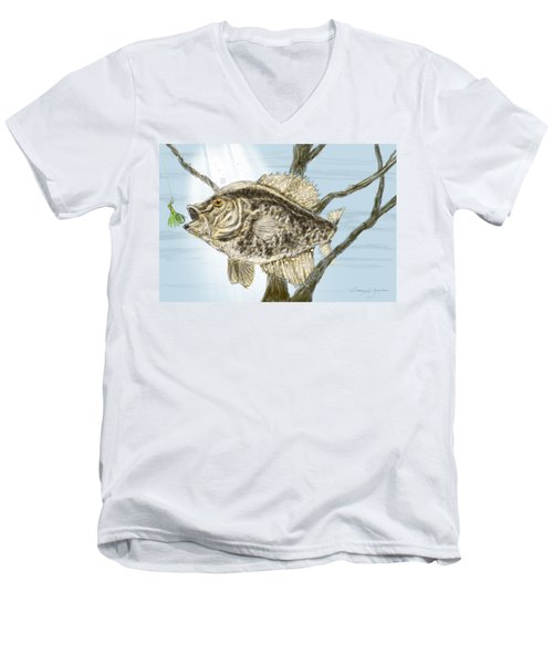 Crappie Time - 2 Men's V-Neck T-Shirt