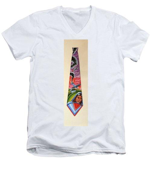 Crash Landing Men's V-Neck T-Shirt by Tracy Dennison