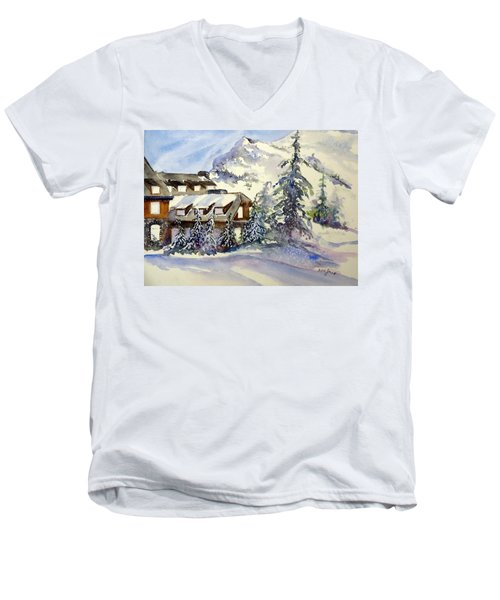 Crater Lake Lodge - Closed For Winter    Men's V-Neck T-Shirt