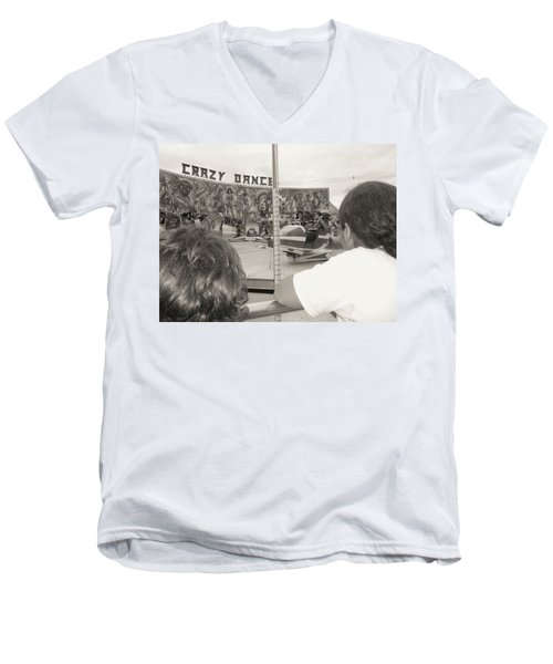 Men's V-Neck T-Shirt featuring the photograph Crazy Dance by Beto Machado