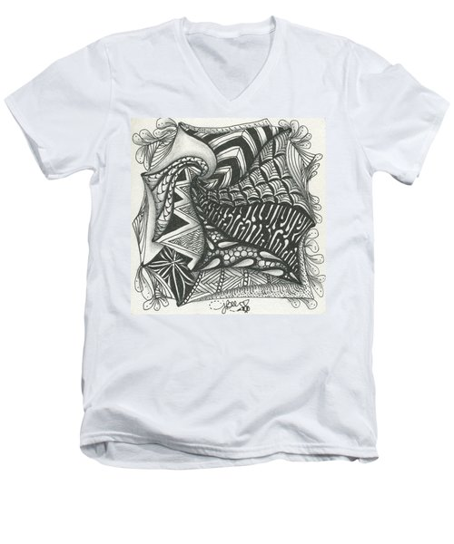 Crazy Spiral Men's V-Neck T-Shirt