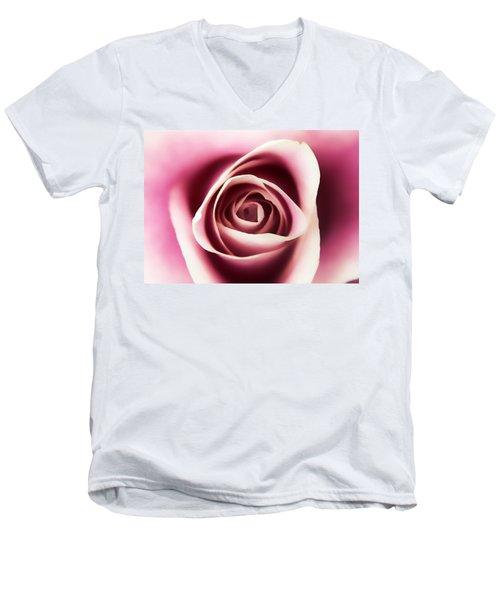 Creamy Pink Men's V-Neck T-Shirt