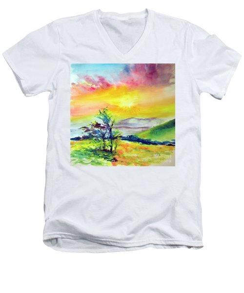 Creation Sings Men's V-Neck T-Shirt