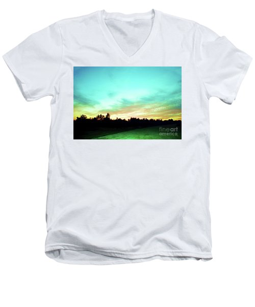Creator's Sky Painting Men's V-Neck T-Shirt