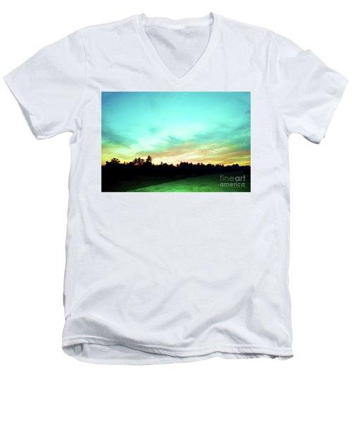 Creator's Sky Painting Men's V-Neck T-Shirt