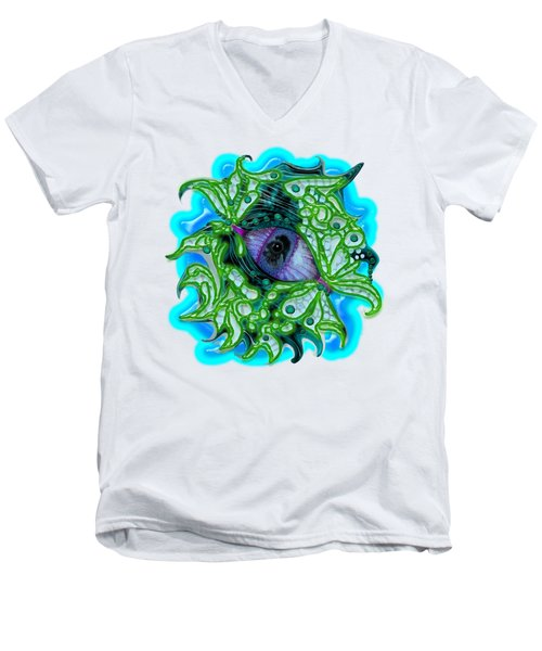 Creature Eye Men's V-Neck T-Shirt by Adria Trail