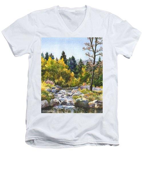Creek At Caribou Men's V-Neck T-Shirt