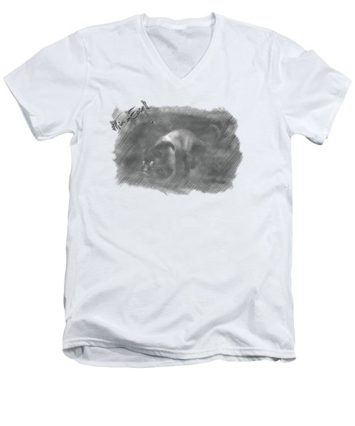 Creeping Panther Men's V-Neck T-Shirt by iMia dEsigN