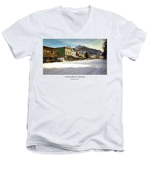 Crested Butte Men's V-Neck T-Shirt