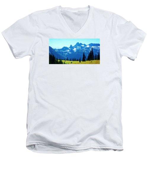 Crests And Gaps Men's V-Neck T-Shirt