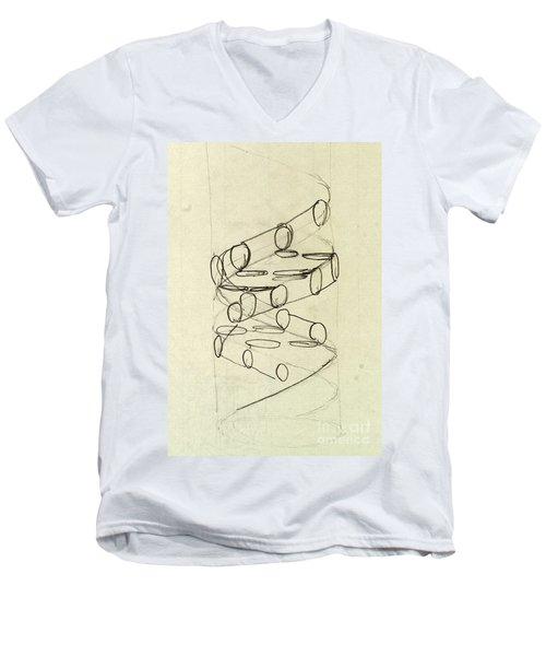 Cricks Original Dna Sketch Men's V-Neck T-Shirt