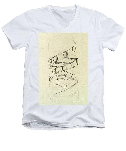 Cricks Original Dna Sketch Men's V-Neck T-Shirt by Science Source