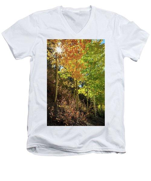 Men's V-Neck T-Shirt featuring the photograph Crisp by David Chandler