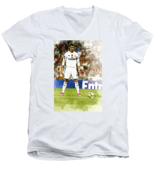 Cristiano Ronaldo Reacts Men's V-Neck T-Shirt