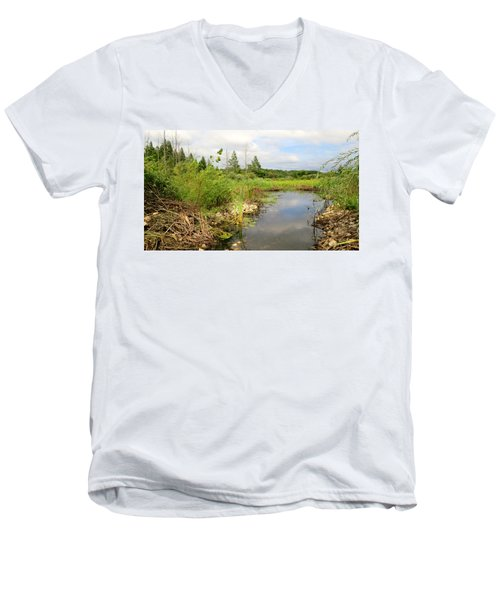 Men's V-Neck T-Shirt featuring the photograph Crooked Creek Preserve by Kimberly Mackowski