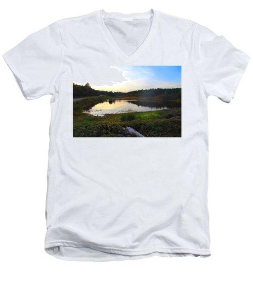 Crooked Lake Road Men's V-Neck T-Shirt by Jason Lees