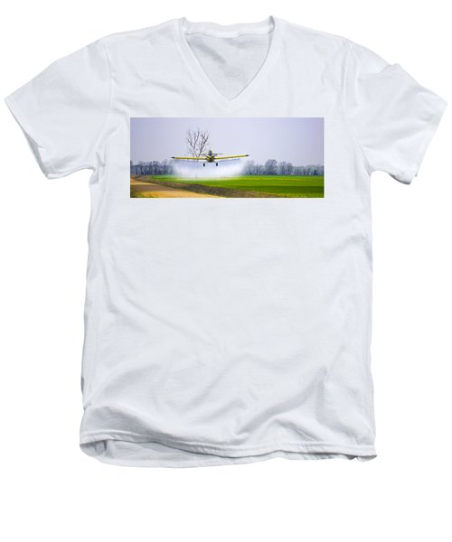 Precision Flying - Crop Dusting 1 Of 2 Men's V-Neck T-Shirt