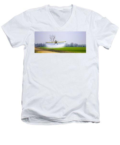 Precision Flying - Crop Dusting 1 Of 2 Men's V-Neck T-Shirt