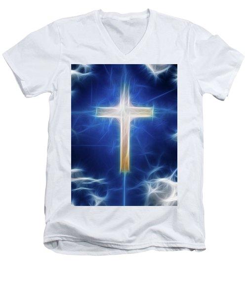 Cross Abstract Men's V-Neck T-Shirt