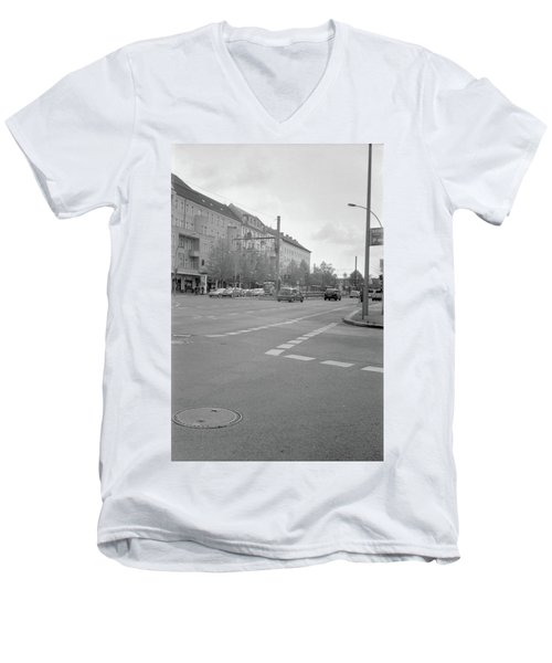 Crossroads In Prenzlauer Berg Men's V-Neck T-Shirt
