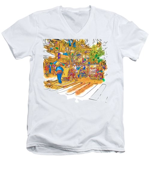 Crosswalk In The Philippines Men's V-Neck T-Shirt