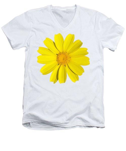Crown Daisy Men's V-Neck T-Shirt by George Atsametakis