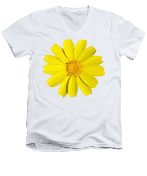 Crown Daisy Men's V-Neck T-Shirt