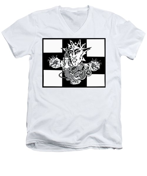 Crucifixion Men's V-Neck T-Shirt